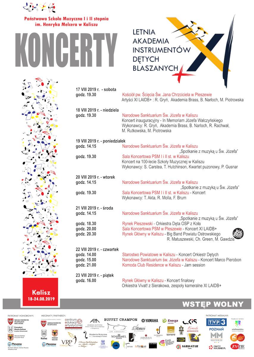 Koncerty XI LAIDB+ Kalisz 2019